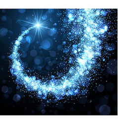 Abstract winter background with blue swirl vector