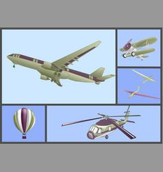Air transport set vector