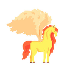 Beautiful pegasus winged horse mythical and vector