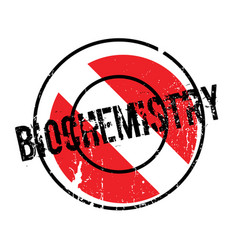 Biochemistry rubber stamp vector