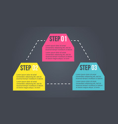 Business infographic step colorful design vector