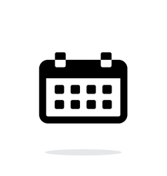 Calendar simple icon on white background vector image vector image