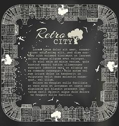 Chalk square city landscape vector image