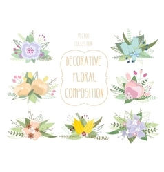 Decorative floral composition vector image