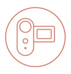 Digital video camera line icon vector
