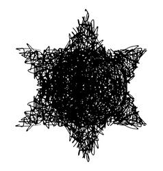 Doodle hexagram vector