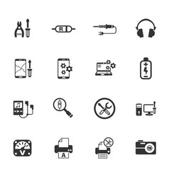 Electronics repair icon set vector