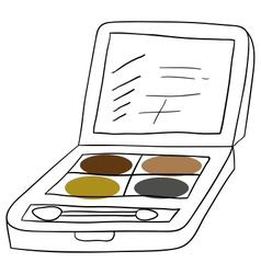Eyeshadows vector image