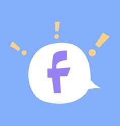 facebook logotype social network icon vector image