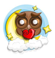 Good night owl vector