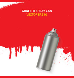 graffiti spray paint can with splash place vector image