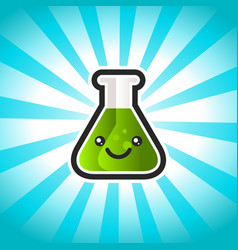 green potion cartoon vector image
