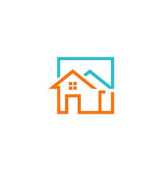 House construction icon logo vector