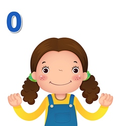 Learn number and counting with kids hand showing vector