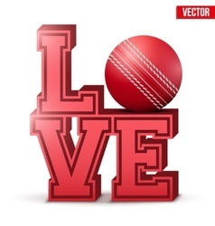 Love cricket inscription vector