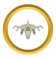 Military aircraft icon vector