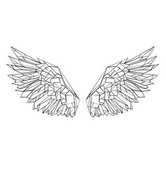 polygonal wings vector image vector image