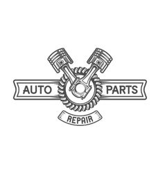 Repair Service Gear and pistons vector image