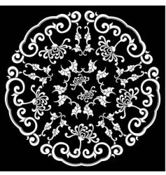 silhouette ornament vector image vector image