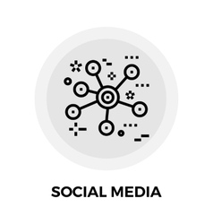 Social Media Line Icon vector image