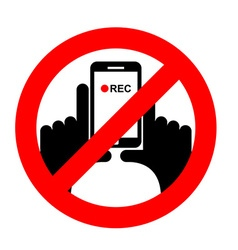 Stop vertical video it is forbidden to record vector
