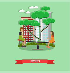 Swing concept in flat style vector