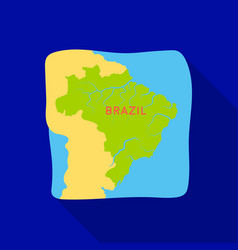 territory of brazil icon in flate style isolated vector image