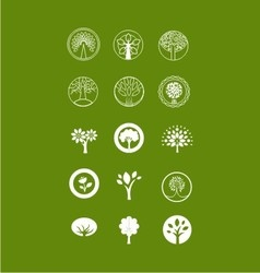 Tree bundle logo vector image vector image