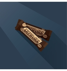 Two candy bars with peanuts vector