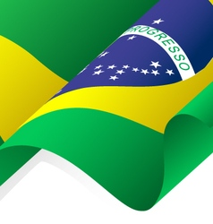 Waving Brazil Flag vector image vector image
