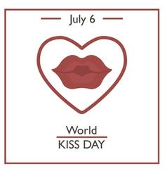 World kiss day vector