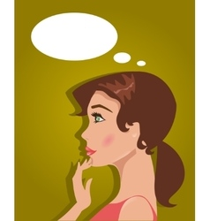 Young woman makes a choice vector image