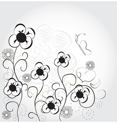 Fun cute flowers vector