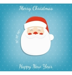 Christmas background with santa claus merry vector