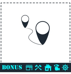 Location icon flat vector