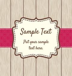 Retro greeting card template design vector image