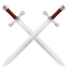 crossed swords vector image