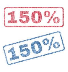 150 percent textile stamps vector