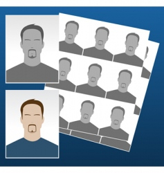 photo icons with faces vector image