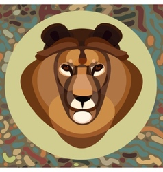 Lion head abstract on backgrounds vector image