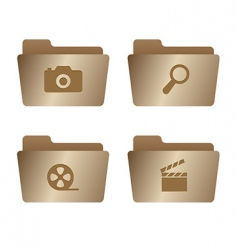 06 old bronze folders internet vector