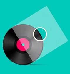 Retro lp vinyl record with transparent cover vector