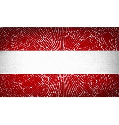Flags austria with broken glass texture vector