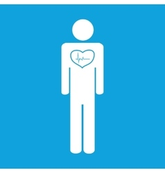 Cardiological state icon simple vector