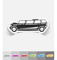 Realistic design element limousine vector