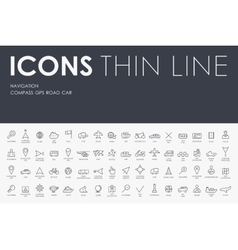 Navigation thin line icons vector