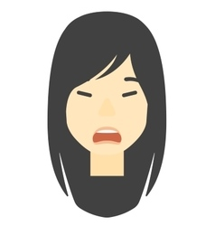 Screaming aggressive woman vector