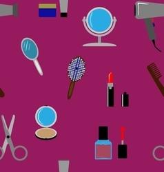 Beauty flat pattern vector image