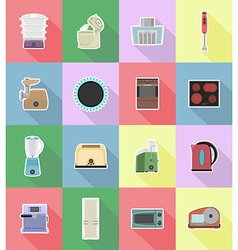Household appliances for kitchen 18 vector