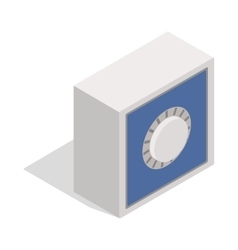 Safety deposit box icon isometric 3d style vector